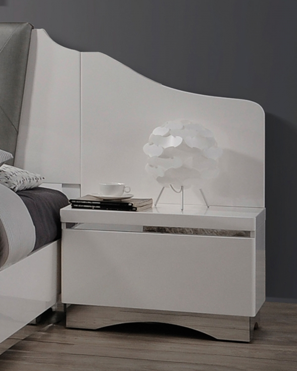 Alessandro Nightstand Panel - Pair - Glossy White