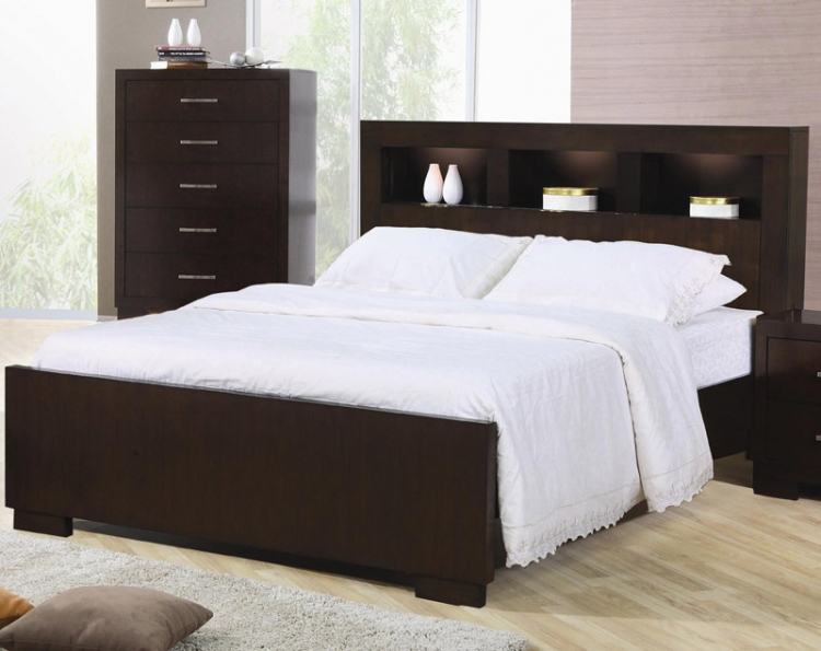 Jessica Bookcase Panel Bed