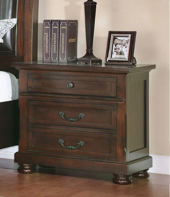 Hannah Night Stand - Dark Cherry