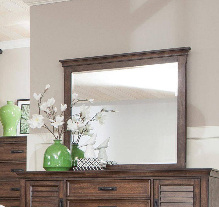 Franco Mirror - Burnished Oak