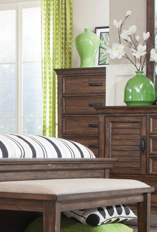 Franco Chest - Burnished Oak