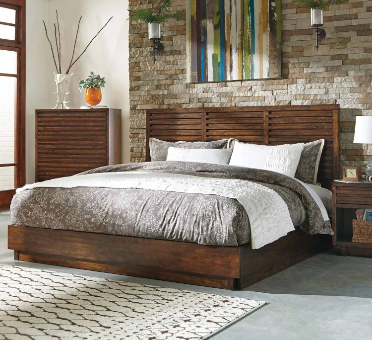 Avery Platform Bed - Bourbon