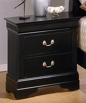 Louis Philippe Black Night Stand