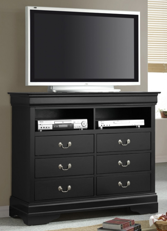 Louis Philippe Black TV Dresser