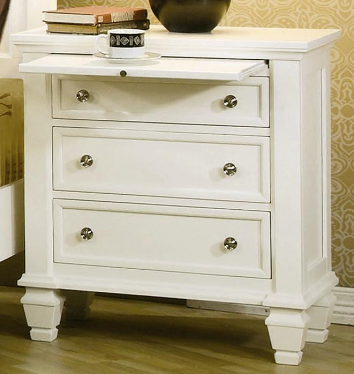 Sandy Beach Light 3 Drawer Night Stand - Coaster
