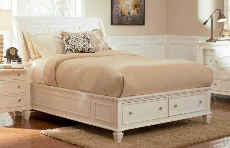 Sandy Beach Light Platform Storage Bed