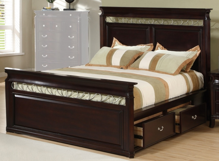 Manhattan Panel Bed with Storage - Coaster