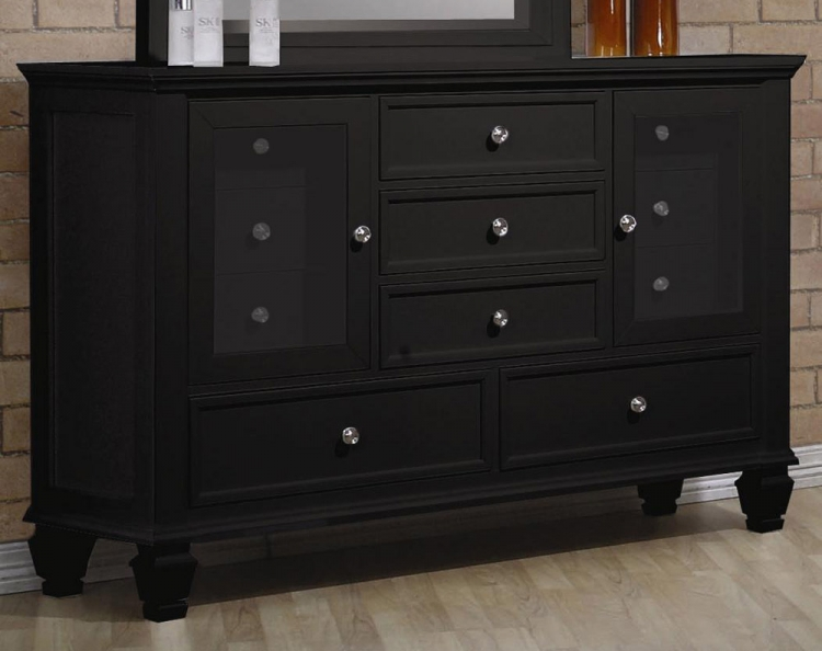 pc antique walnut bedroom set bed with open footrail nightstand