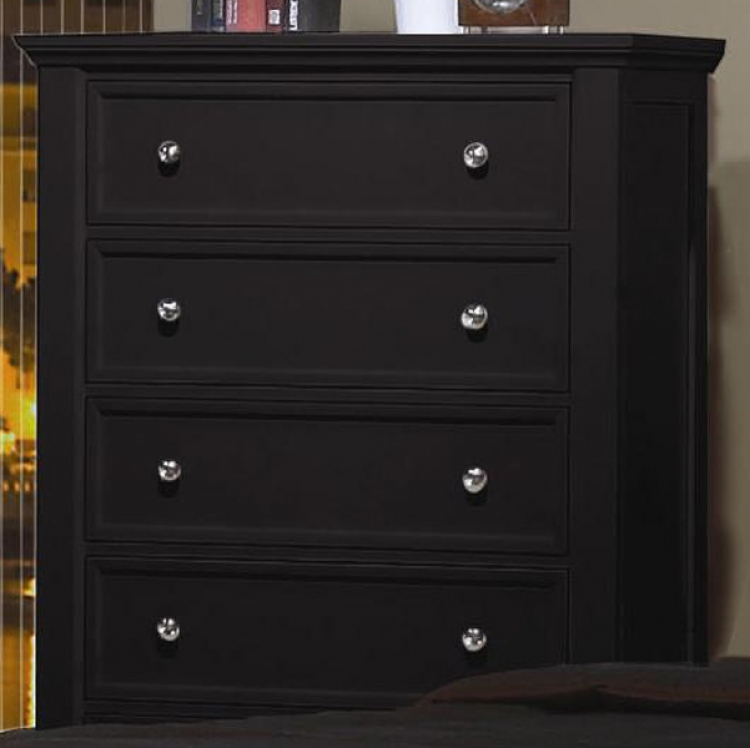 Sandy Beach Dark 5 Drawer Chest