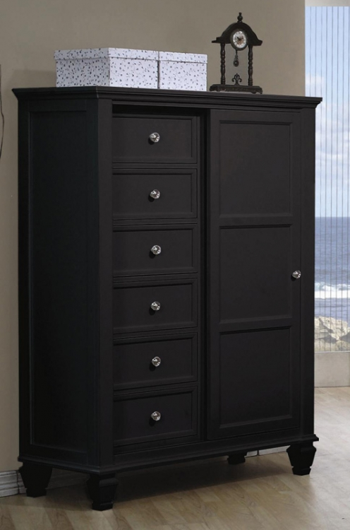 Sandy Beach Dark 8 Drawer Chest