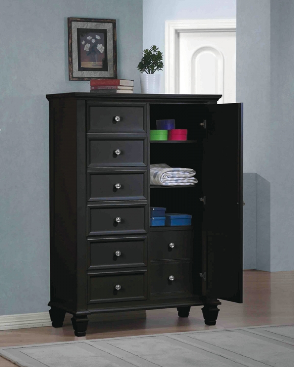 Sandy Beach Door Chest - Black - Coaster