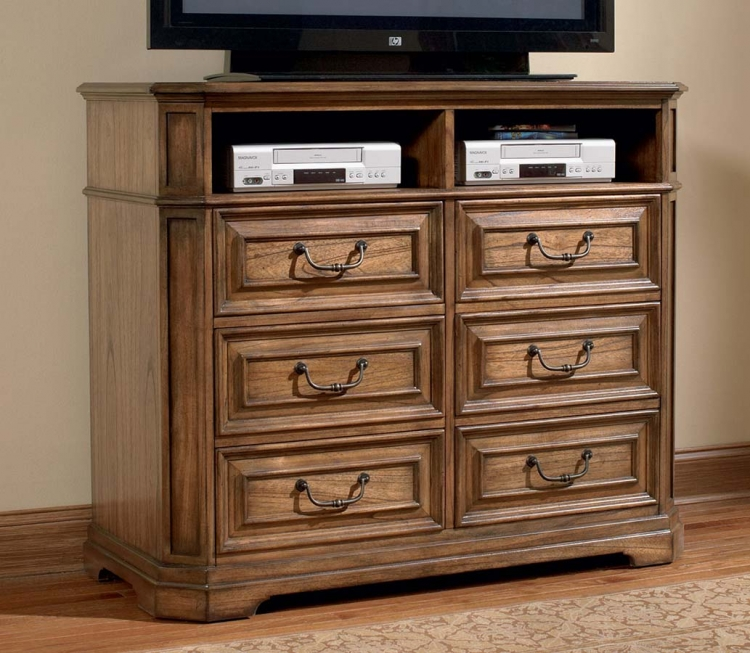 Edgewood Media Chest - Oak - Coaster