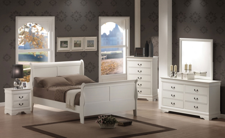 Louis Philippe Bedroom Set - White - Coaster