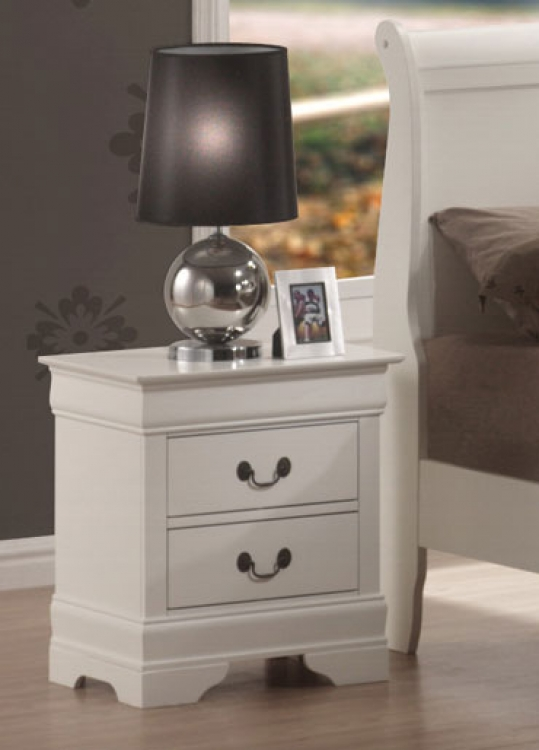 Louis Philippe Night Stand - White