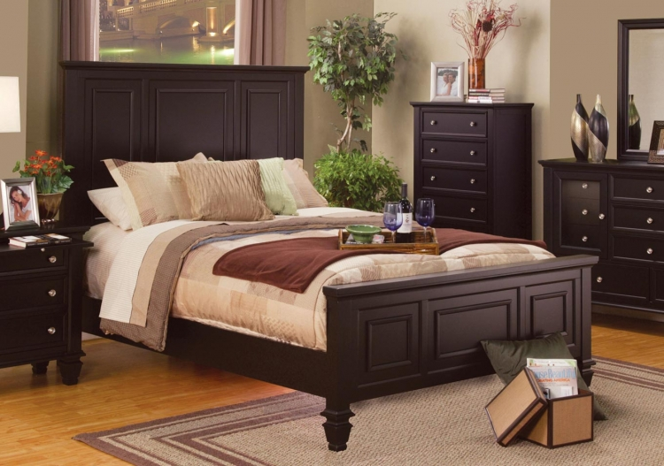Sandy Beach Panel Bed - Cappuccino