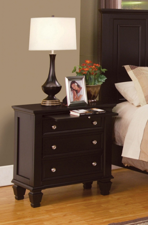 Sandy Beach Night Stand - Cappuccino