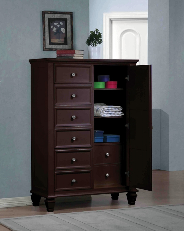 Sandy Beach Door Chest - Cappuccino