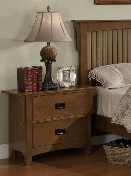 Georgia Night Stand - Medium Oak