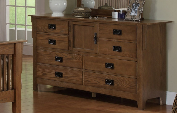 Georgia Dresser - Medium Oak