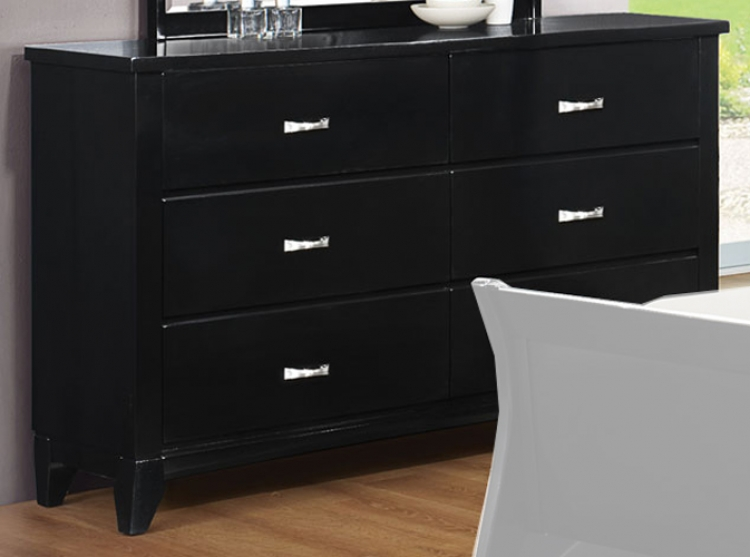 Eleanor Dresser - Black - Coaster