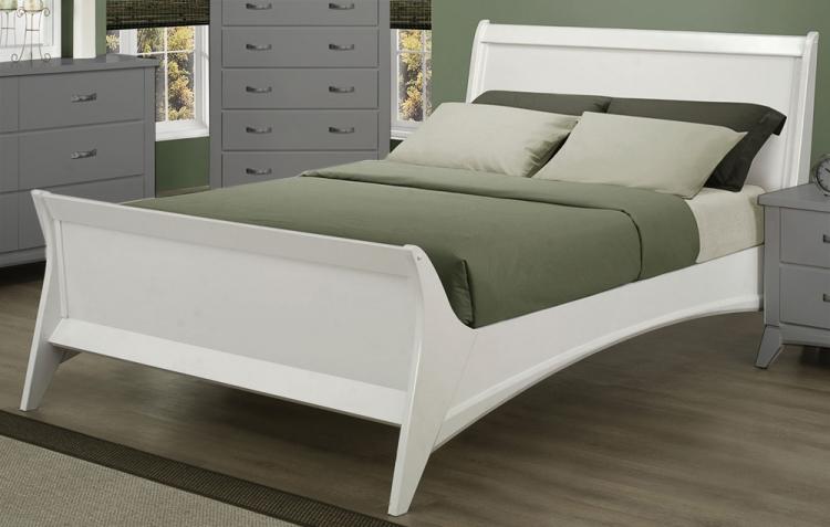 Eleanor Platform Bed - White