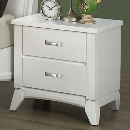 Eleanor Night Stand - White - Coaster