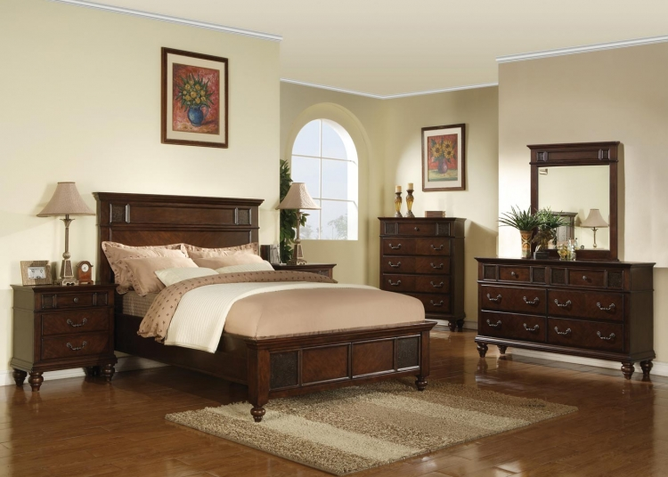 Sidney Bedroom Set - Dark Cherry - Coaster