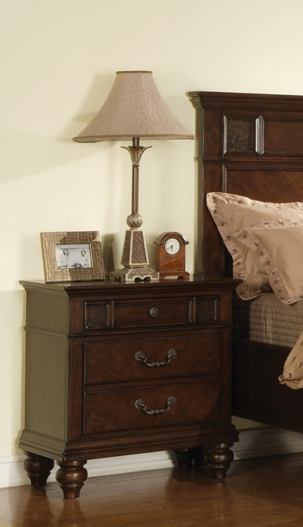Sidney Night Stand - Dark Cherry