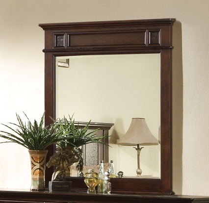 Sidney Mirror - Dark Cherry - Coaster