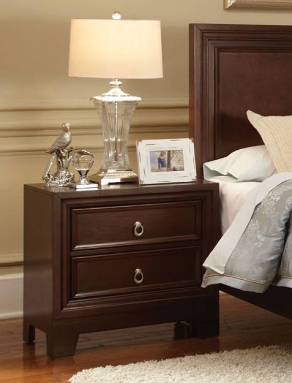 Nortin Night Stand - Dark Cherry