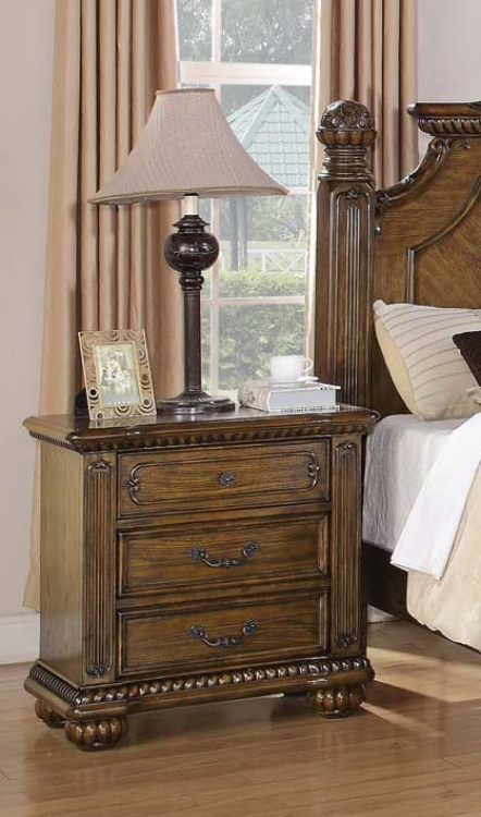 Bartole Night Stand - Oak