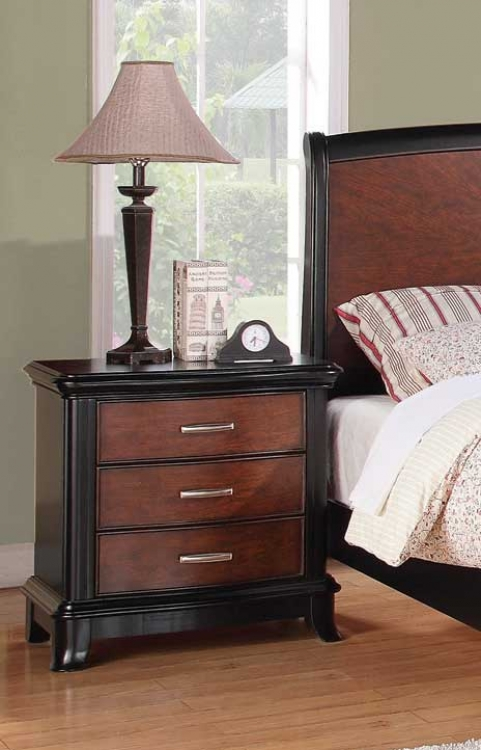 Josephina Night Stand - Cherry/Mocha - Coaster