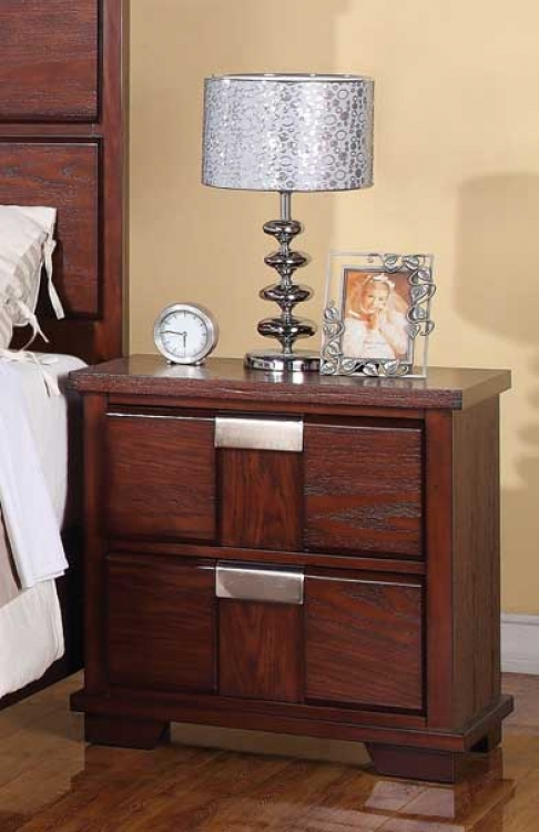 Hyland Night Stand - Dark Cherry - Coaster