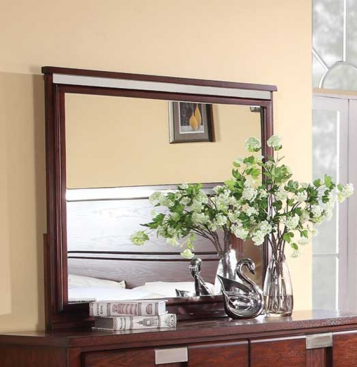 Hyland Mirror - Dark Cherry - Coaster