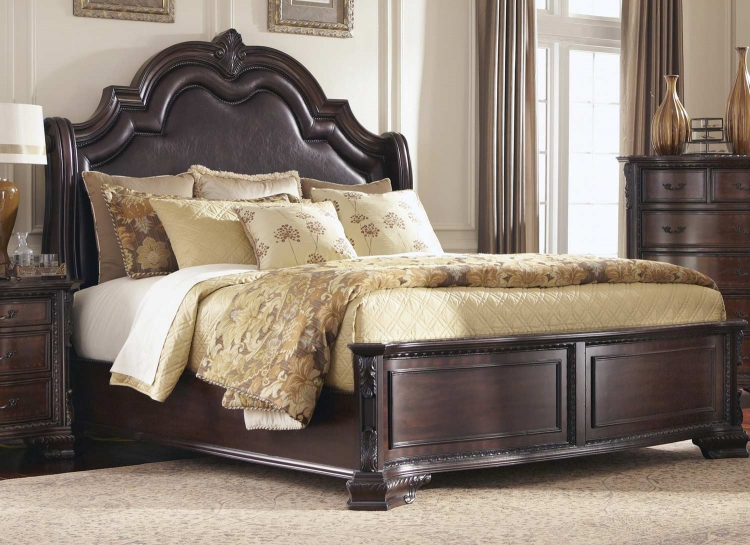 Maddison Bed - Brown/Cherry