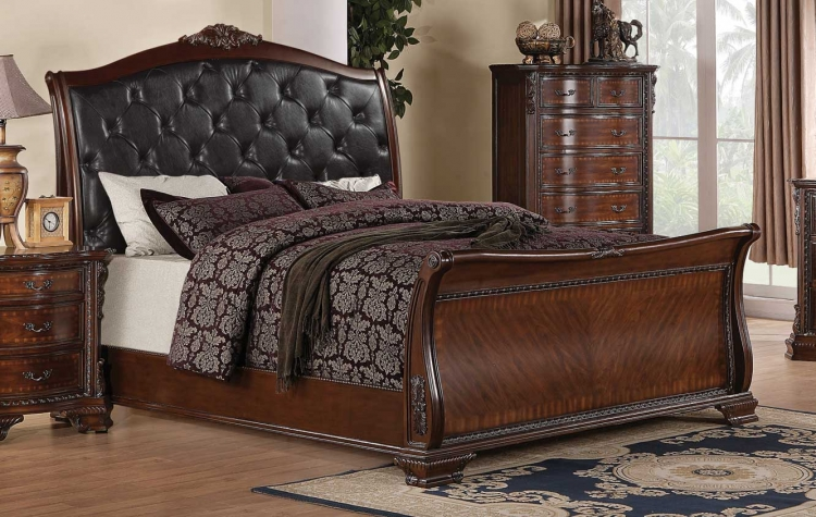 Maddison Bed - Brown Cherry