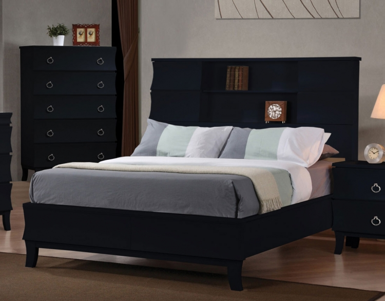 Holland Low Profile Bookcase Bed - Black - Coaster