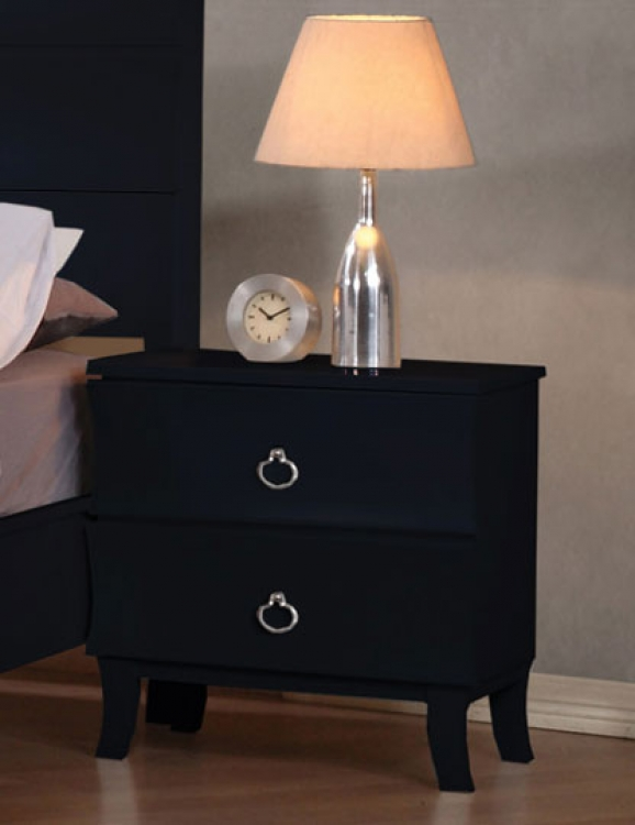 Holland Night Stand - Black - Coaster