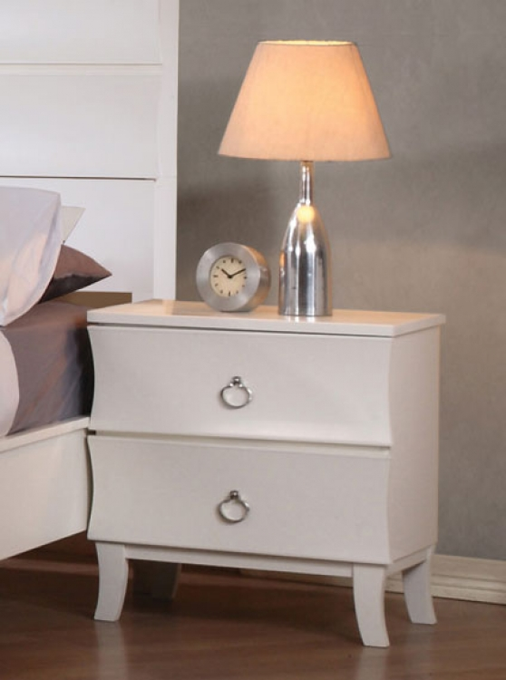 Holland Night Stand - White - Coaster