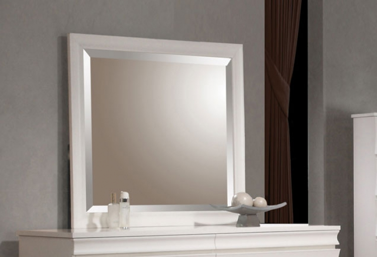 Holland Mirror - White