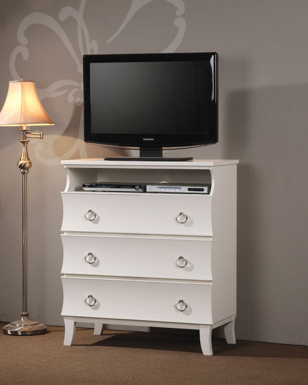 Holland Media Chest - White