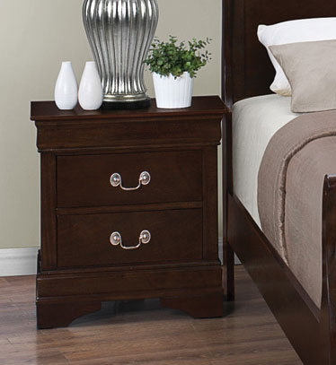 Louis Philippe Night Stand - Cappuccino