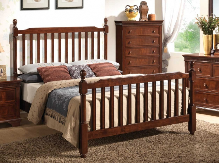 Montgomery Mission Bed - Brown Cherry - Coaster