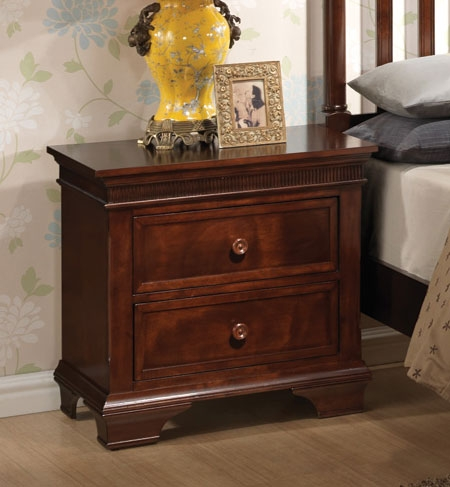 Montgomery Night Stand - Brown Cherry - Coaster