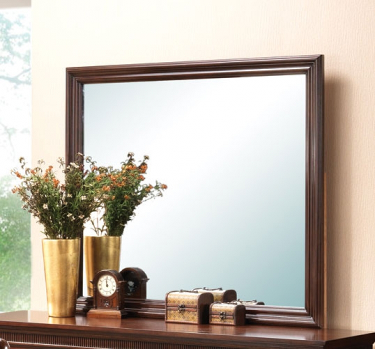 Montgomery Mirror - Brown Cherry