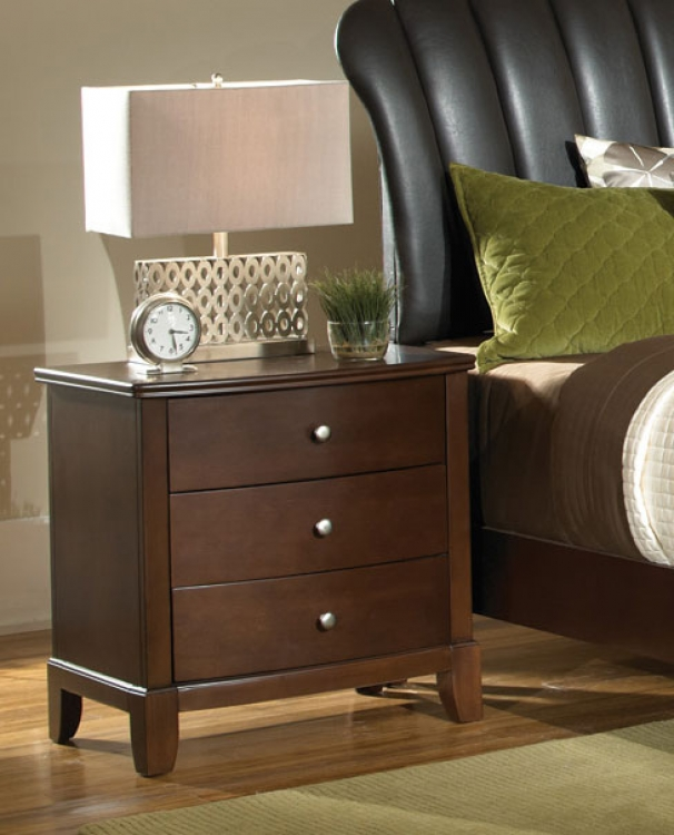 Addley Night Stand - Dark Cherry