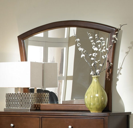 Addley Mirror - Dark Cherry