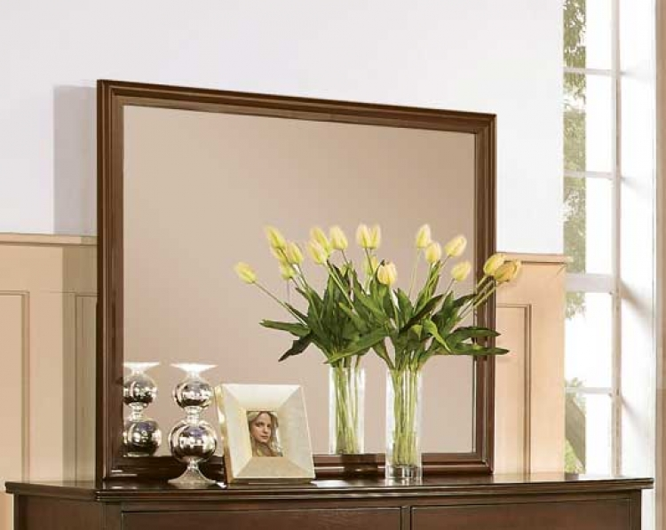 Addley Rectangular Mirror - Dark Cherry