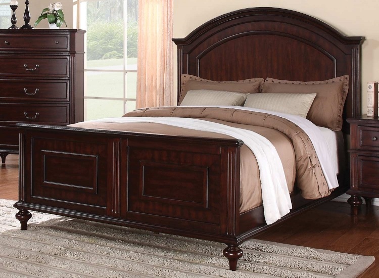 Emily Bed - Brown Cherry
