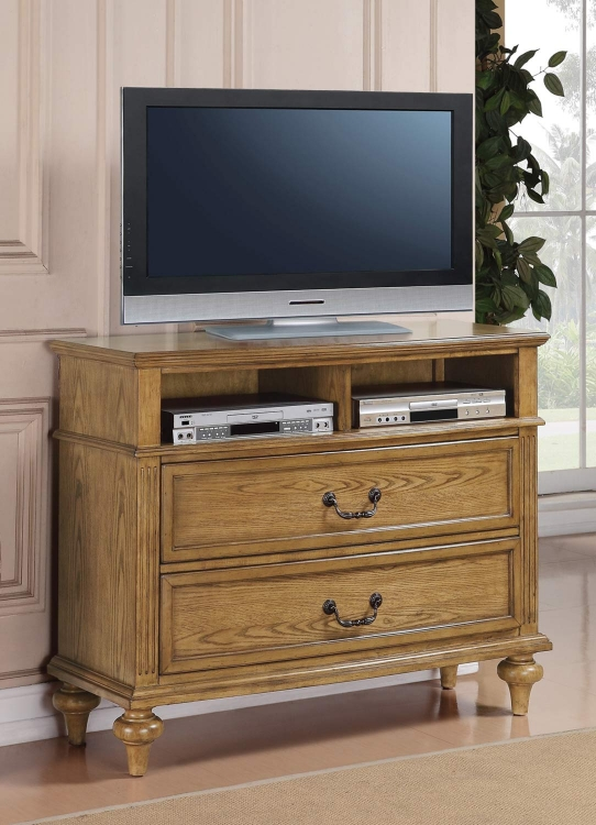 Emily Media Chest - Light Oak
